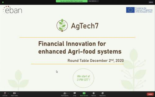 YET EBAN AgTech7 workshop 12.2020 1