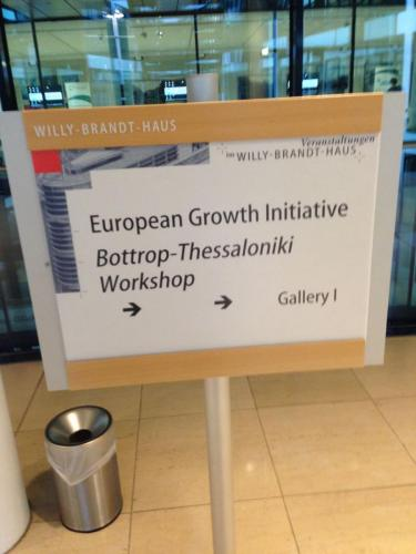 YET European Growth Initiative Berlin - Botrop Thessaloniki workshop 11.2015 1